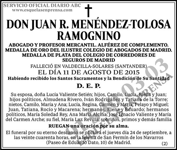 Juan R. Menéndez-Tolosa Ramognino